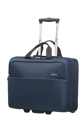 American Tourister Atlanta Heights Laptop Rollkoffer, 25.0 Liter, Navy Blue