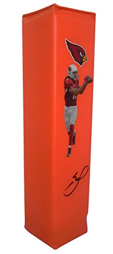 Arizona Cardinals Larry Fitzgerald Autographed Hand Signed AZ Cardinals Full Size Photo Football Touchdown End Zone Pylon with Proof Photo of Signing and COA- Pitt University of Pittsburgh Panthers