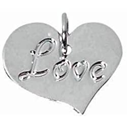 "Amscan Contemporary Love Charms Wedding Party Novelty Favors, 5/8"", Silver Valentine's Day Gifts Idea"
