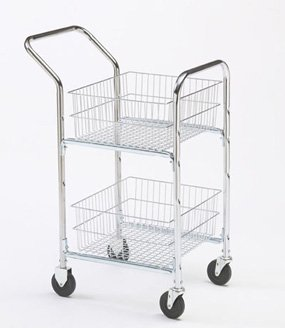 (Charnstrom Compact Mail Cart with Bolt In Parcel Baskets (M248))