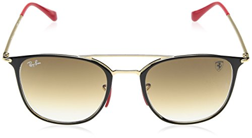 Ray 0 Steel Unisex Top Mm Gold On Black Square ban Sunglass rzOUBwaWqr