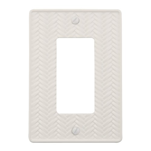 - AmerTac 89RWL Weave Cast Metal Single Rocker-GFCI Wallplate, White