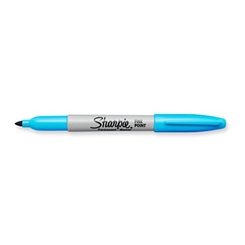 Sharpie Permanent Markers, Shrink-Wrap-Pack aging, Fine Point, Single, Nano Blue (1927336)