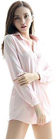 Traje Sexy Nueva Gasa Pijama Sexy Verano Camisa Blanca Larga Ropa Interior Sexy Camisa Coreana Ropa para el hogar @ Blue_L: Amazon.es: Ropa y accesorios