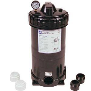 Above Ground Filter Pump Unit, 1.5HP, 75 Sq Ft Cartridge Complete with all Fittings with 110v Cord