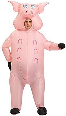 VIDOO Disfraz de Cerdo Rosa Inflable Anime Cosplay Carnaval ...