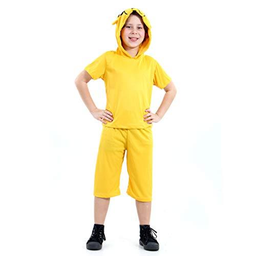 Jake Infantil Hora de Aventura Sulamericana Fantasias Amarelo PP 3 Anos