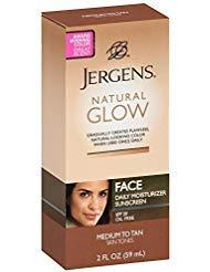 Jergens Natural Glow Daily Facial Moisturizer SPF 20, Medium To Tan Skin Tones 2 oz (Pack of 3)