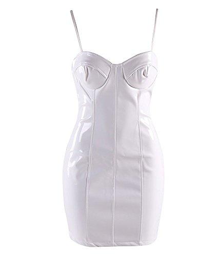 FetiWear Berenice - Sexy PVC Spaghetti Straps Mini Party (Vinyl Mini Dress)