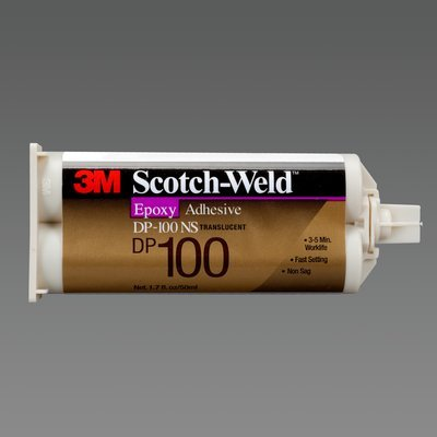 Glue Metal 3m (3M Scotch-Weld Epoxy Adhesive DP100NS Translucent, 1.7 fl oz (Pack of 1))