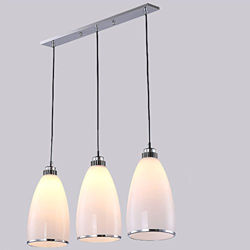 (Chandelier Pendant Lights 3 Head Modern Minimalist Restaurant Warm and Stylish LED Discoloration Light,S)