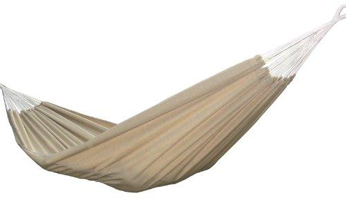 Vivere Brazilian Style Sunbrella Double Hammock, Sand (Vivere Stand Hammock Steel Double With Fabric)
