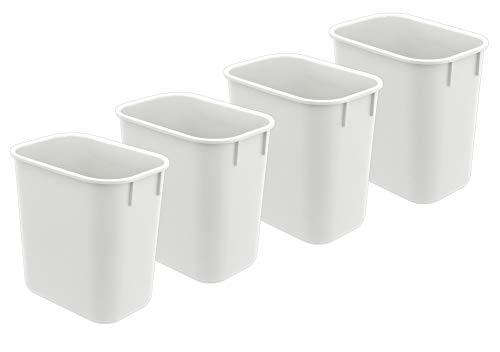 (Acrimet Wastebasket 13QT (4 - Pack) (White Color))