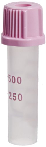 BD 365974 Plastic Capillary Blood Collection Microtainer Tube with Dipotassium EDTA Beadless Additive Lavender Microgard Closure, 250-500 microliter Capacity, 8mm ID (Case of (Blood Collection Tube)