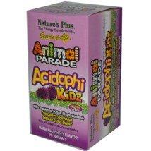 Nature's Plus - Animal Parade Acidophikidz, 90 chewable tablets Berry Flavor, Gluten Free (Plus Chewable)