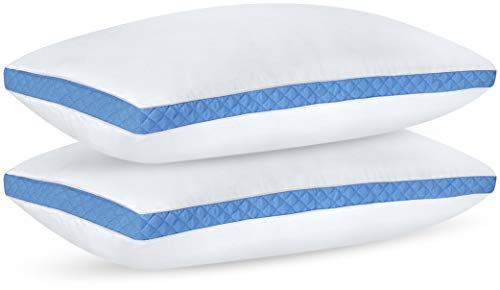 Utopia Bedding Gusseted Quilted Pillow 2-Pack