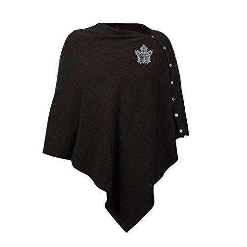 NHL Toronto Maple Leafs Black Out Button Poncho - Maple Leaf Button