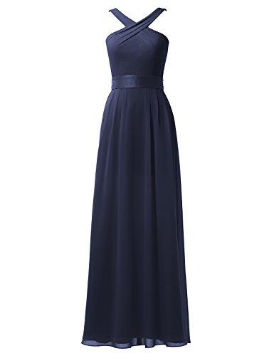 Dark Dress Dress Bridesmaid Maxi Bridal A Navy Party Prom Gown Alicepub Evening Long Line qwFCxwpgA