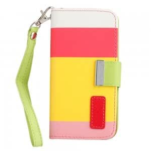 Stylish Flip PU Leather Case with Card Slots for iPhone 5 Multi-color(5)