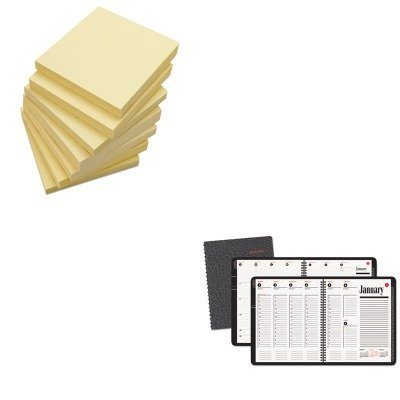 KITAAG7086405UNV35668 - Value Kit - At-a-Glance Recycled 800 Range Weekly/Monthly Appointment Book (AAG7086405) and Universal Standard Self-Stick Notes (UNV35668)