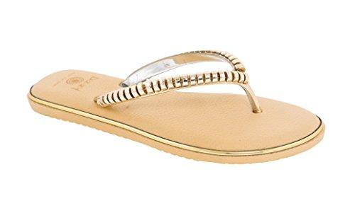 Beaute Mote Krusninger Kvinners Komfort Flip Flop Sandal Thong # 1 Ekstra  Komfortabel Ekstra Polstret Beige