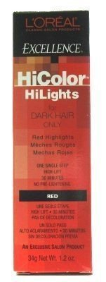L'Oreal Excellence HiColor Red 1.2 oz (Pack of 3) -
