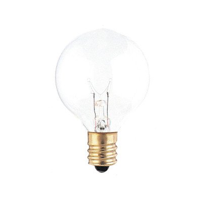 G12 Globe Incandescent Bulb [Set of 25] Color: Clear, Wattage: 10W