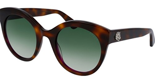 Gucci GG0028S Sunglasses Shiny Havana w/Green Gradient Lens 002 GG - Cheap Online Gucci
