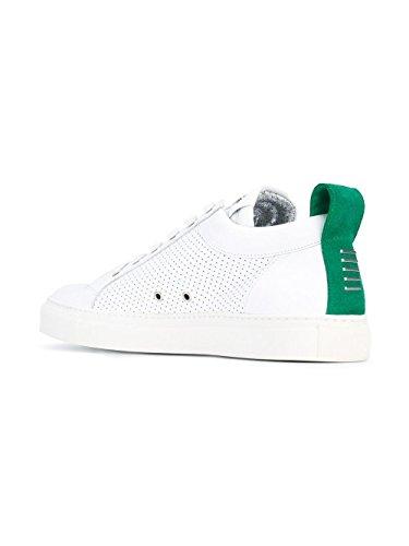 Balmain Hombre S7HA303P038100 Blanco/Verde Cuero Zapatillas