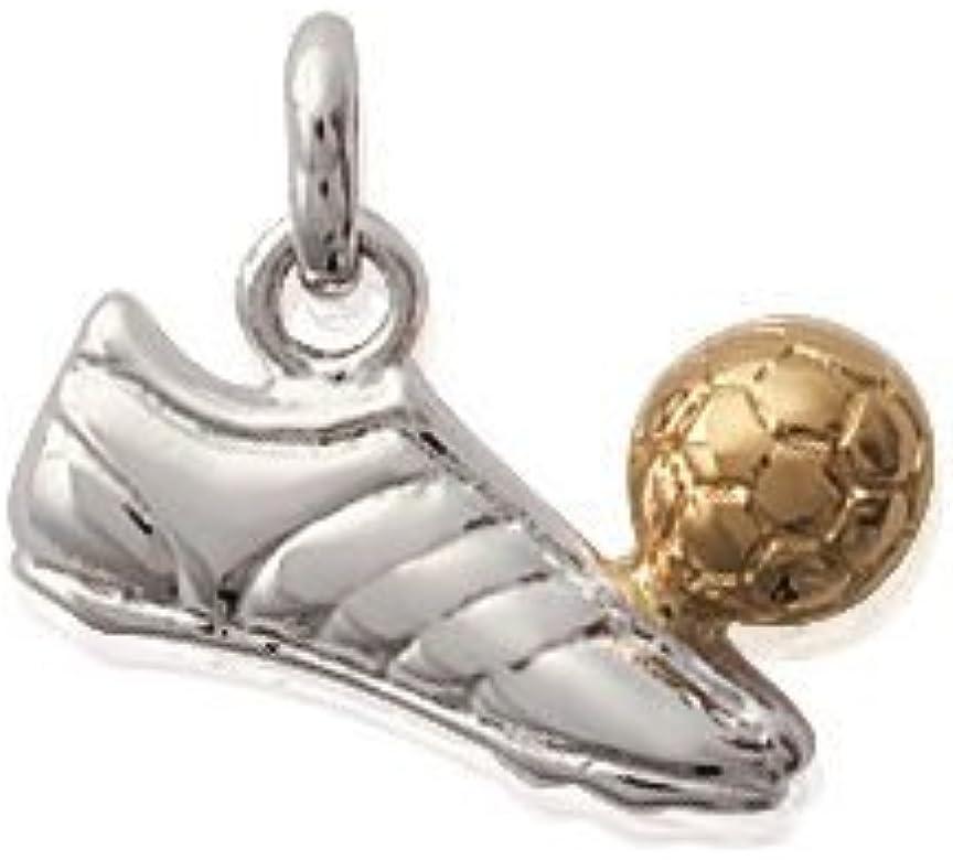 Colgante con chapado en oro, 2 tonos-Balón de fútbol, baloncesto ...