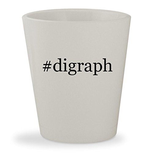 #digraph - White Hashtag Ceramic 1.5oz Shot (Digraphs Puzzles)