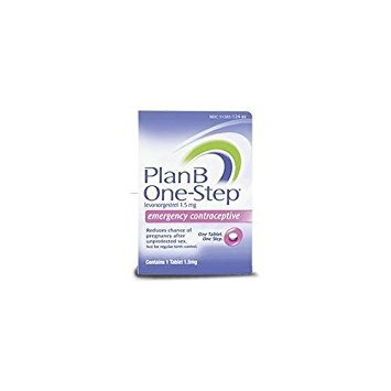 Plan B One-step Emergency Contraceptive 1 Tablet,1.5 mg - Buy Packs and SAVE (Pack of 3) by Plan B