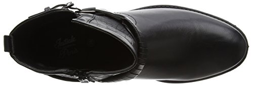 Initiale Damen Raufre Biker Boots Noir (Noir)