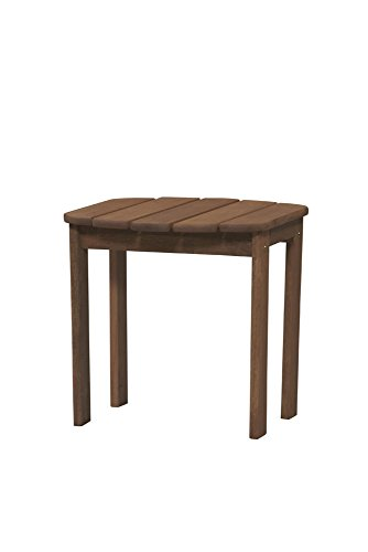 Linon 20155T36-01-KD-U Adirondack End, Teak Table,