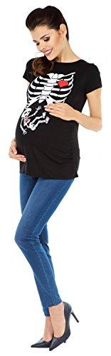 Zeta Ville - T-shirt Camiseta Premamá estampado X-Rayos - para mujer - 281c Negro