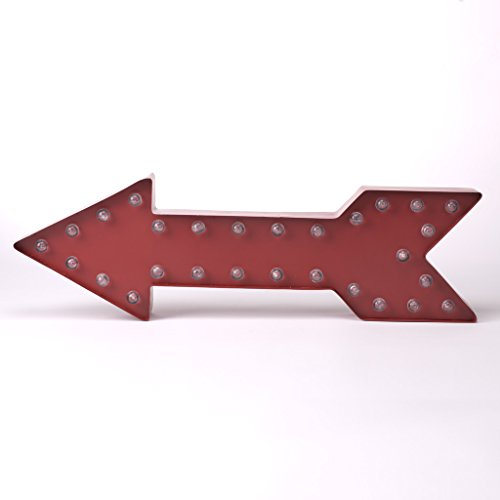 Glitzhome-Marquee-LED-Lighted-Arrow-Sign-Battery-Operated