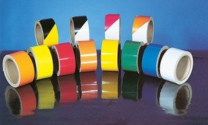 Accuform STRIPED COLORS - REFLECTIVE TAPE (PTM814BKWT) by Accuform
