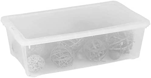 Caja transparente, 33 x 20 x 11 cm Caja – Caja multiusos juguete ...