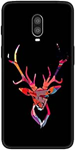 OnePlus 6T ماتي الأسود لينة شل TPU رسمت قذيفة الهاتف المحمول لطيف الكرتون حالة الغطاء الواقي