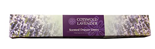 Scented Drawer Liners -6 Sheets fragranced with Lavender Essential Oils - 220grams by Cotswold Lavender