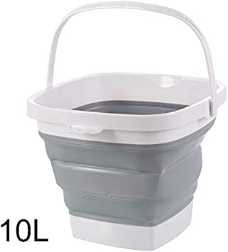 Bestdoll Plastic Collapsible Bucket Outdoor Camping Square Tub Water Pail Fishing Bucket Organizer