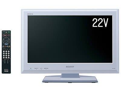 SONY BRAVIA 地上BS110度CSデジタルハイビジョン液晶TV J5シリーズ22V型セラミックホワイト KDL-22J5/W B001Q257HM