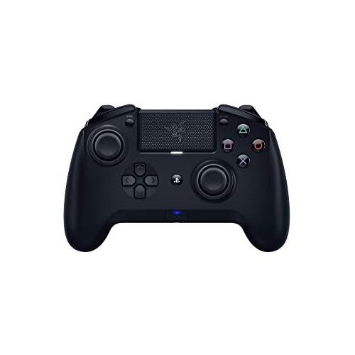 chollos oferta descuentos barato Razer Raiju Tournament 2019 Controlador de juegos inalámbrico y con cable para PS4 PC controlador Bluetooth con cable e inalámbrico botones de acción palos intercambiables aplicación móvil negro