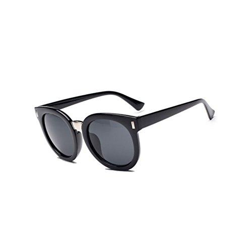 Pink Frame Grey Shaded Lenses (DKOLY BSG700007C1 Fashionable PC Lens Retro Sunglasses,Plastic & Metal Frames)