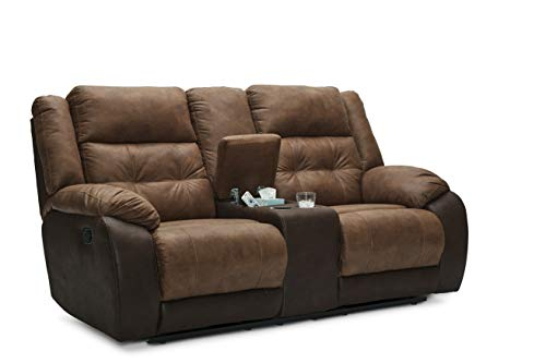 Chair Mocha Stone - Lane Home Furnishings 56411-63 Commander Mocha Double Motion Console Loveseat, Brown