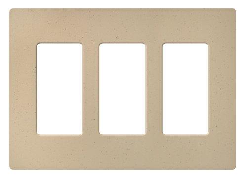 Lutron SC-3-DS Claro Three-gang Wallplate Desert Stone