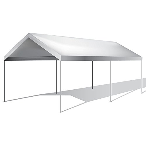 Generic Carport C Shade White nopy Tent Party Tent Pa 10'x20' Car Boat rt Canop Carport Canopy Shelter 'x20' Car B Garage Storage 0' Car by Generic