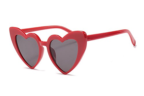 FEISEDY Vintage Heart Shaped Sunglasses Women Stylish Love Eyeglasses B2421