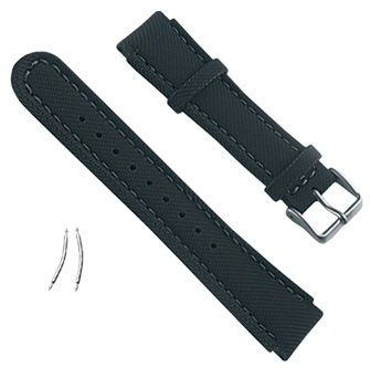 Suunto Wrist-Top Computer Watch Replacement Strap Kit (Yachtsman and X-Lander; Black Synthetic Fabric - Fabric Strap Kit