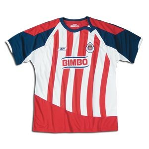 Chivas Home Jersey (Flash Red/White, X-Large)
